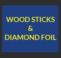 Wood Sticks and Diamond Foil